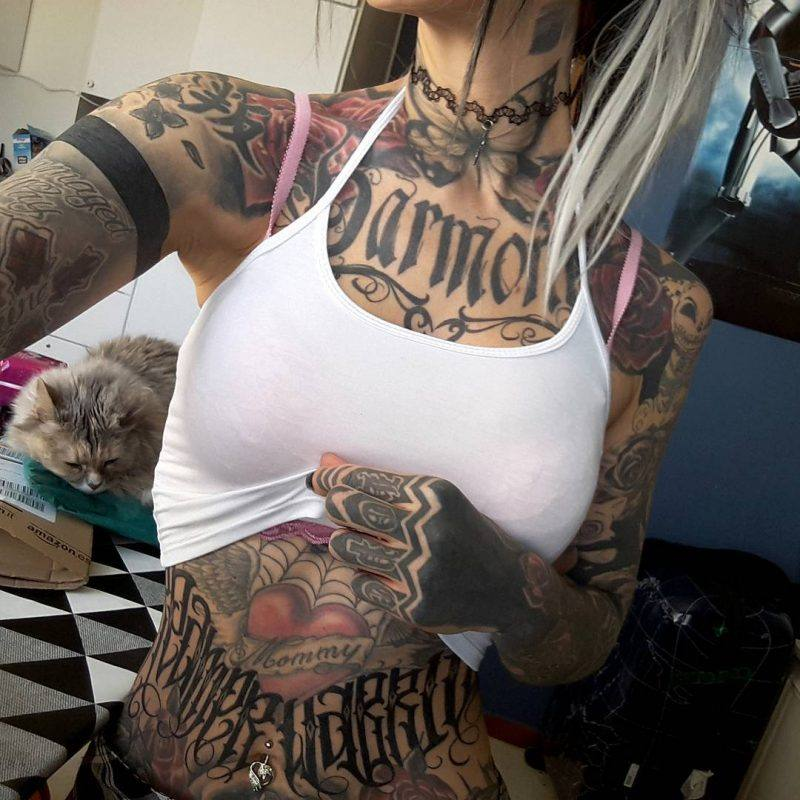 full stomach tattoos for girls women images