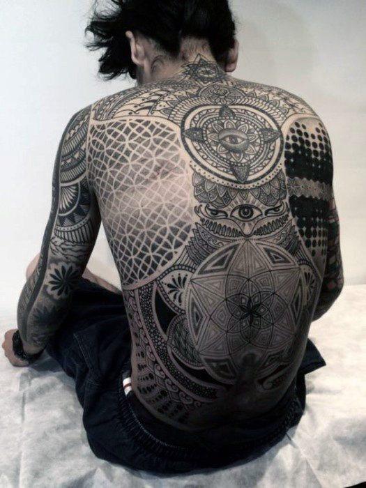 amazing full back tattoos for men design