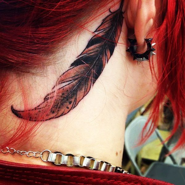 cool behind the ear tattoos for females ideas
