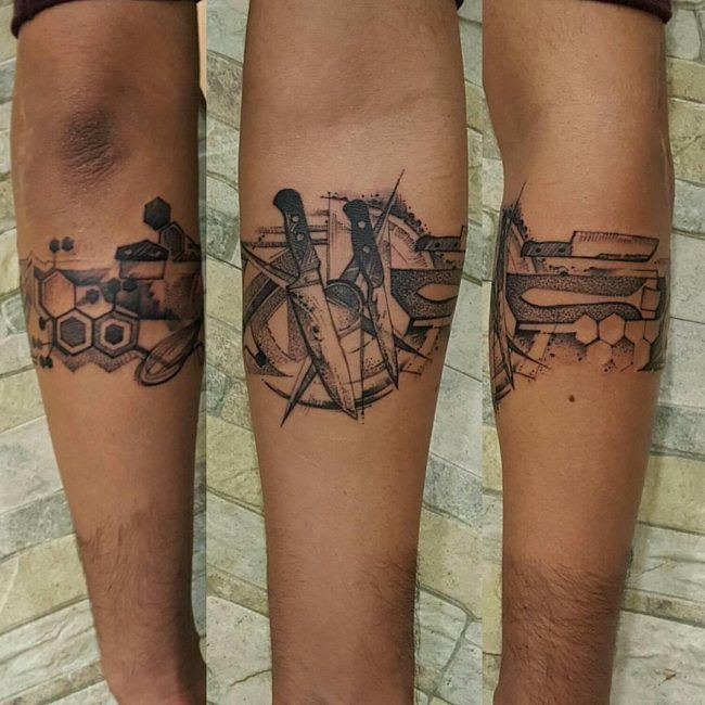 knife armband tattoo designs images