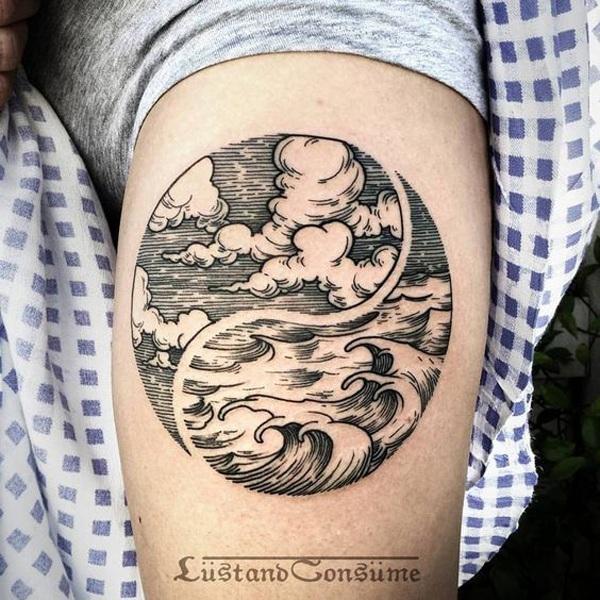 best tattoo of yin yang symbol on arm design