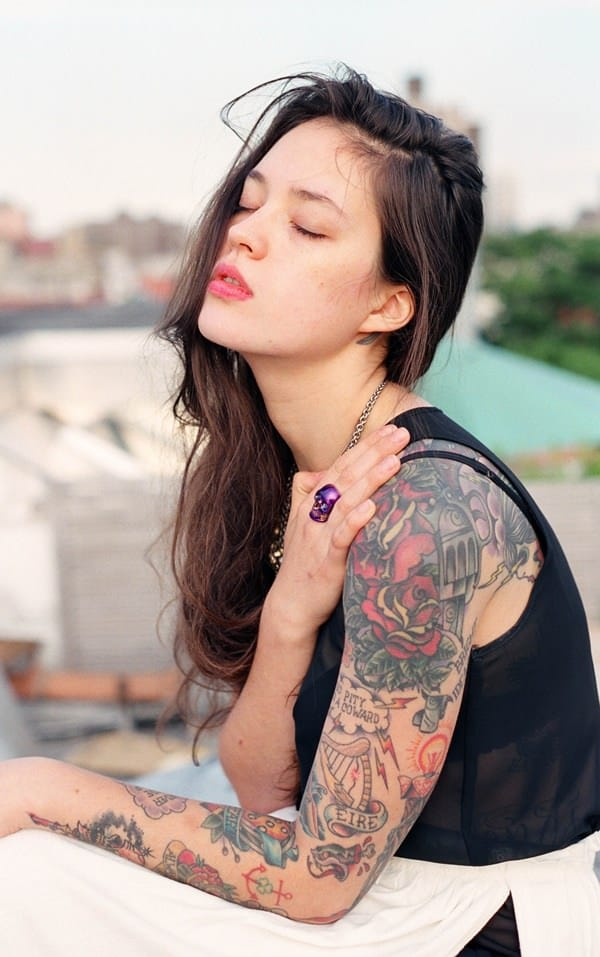 pictures of rose tattoos on arm