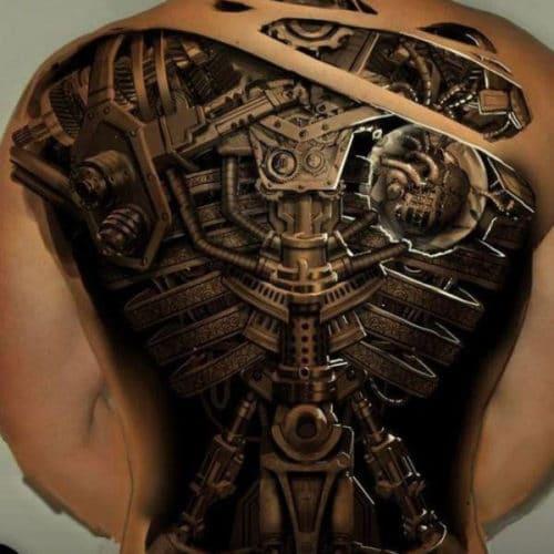 meshin full back tattoo ideas male