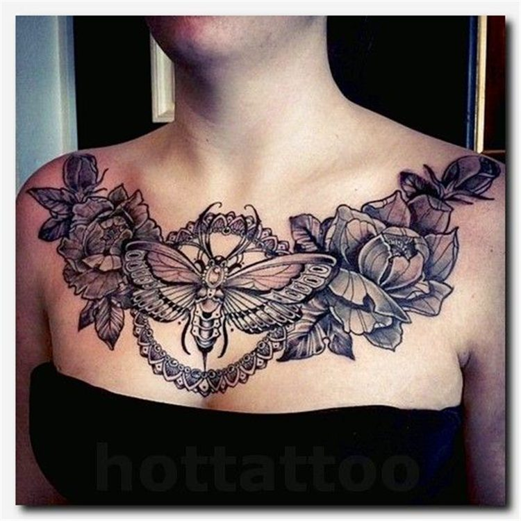 chest tattoo ideas for females design 2021