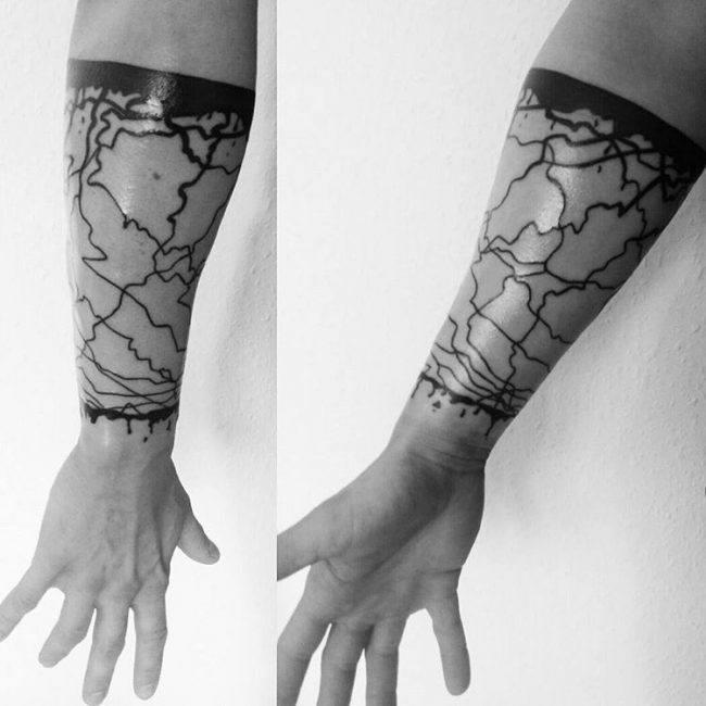 men large temporary armband tattoo
