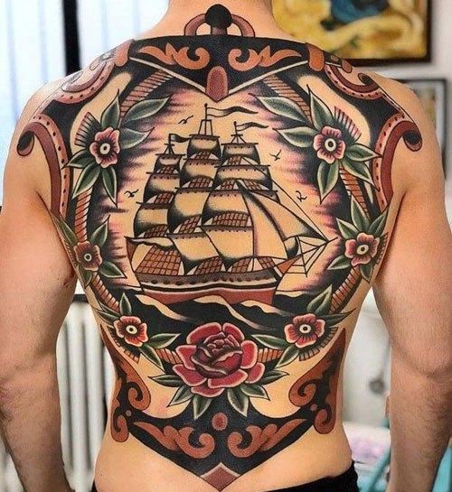shipe cool full back tattoos ideas for men