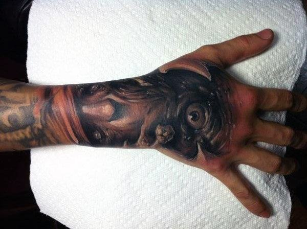 full wrist hand tattoos for guys