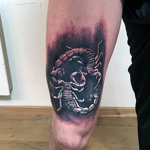 men leg scorpion tattoo art images