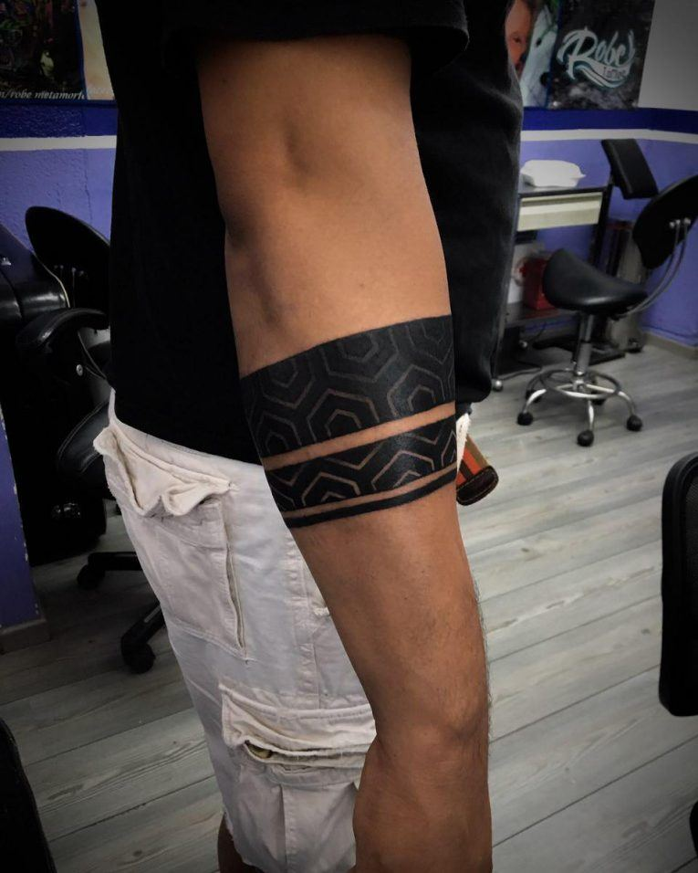 solid temporary armband tattoo for men images