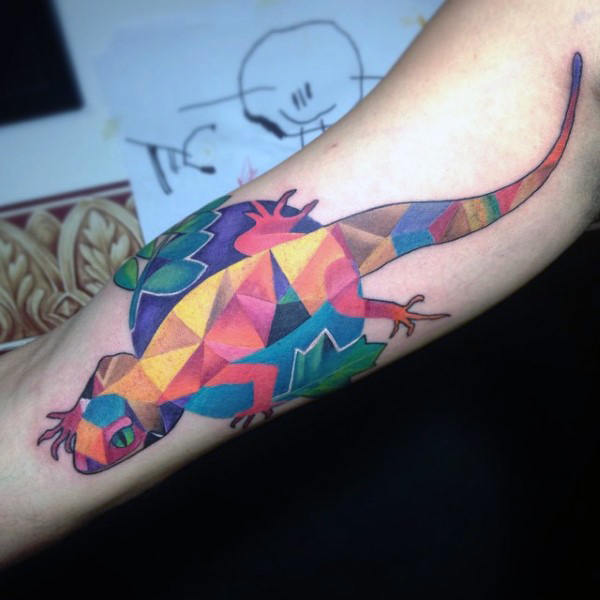 arm gecko tattoo images