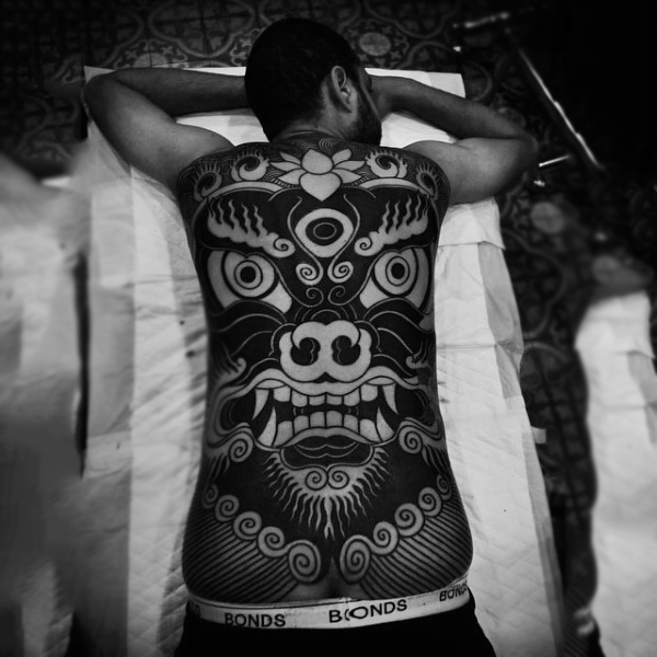 cool japanese full back tattoo designs