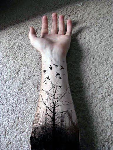 tree tattoo designs on wrist for male pictures
