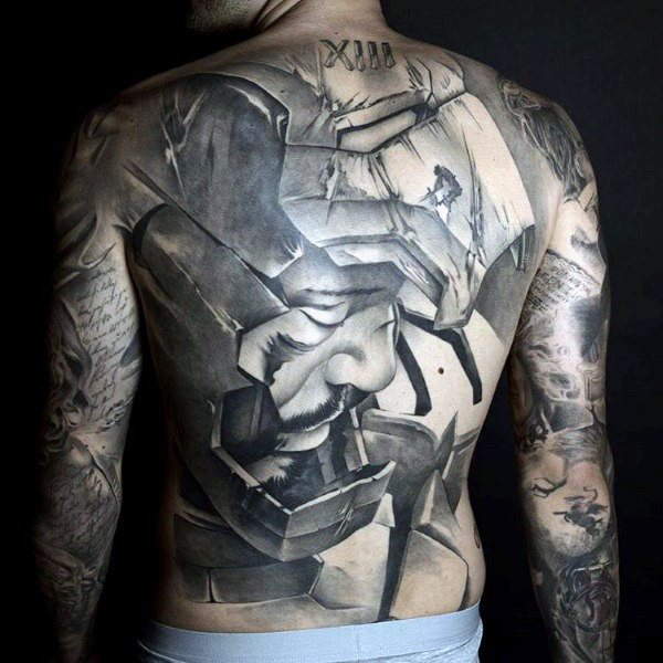 full back piece tattoo ideas for male