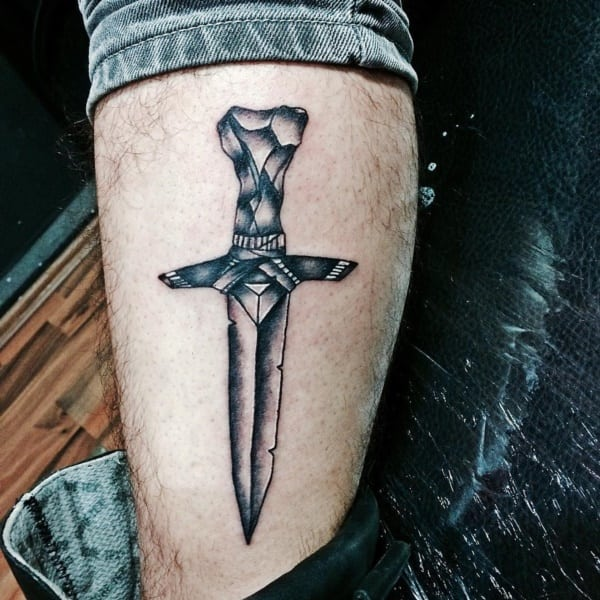 leg sword of the spirit tattoo images