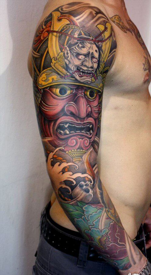 japanese arm  forearm tattoo designs ideas