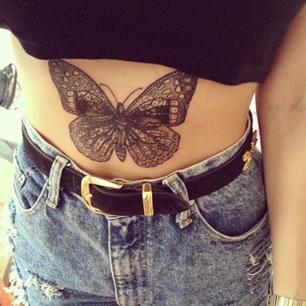 hot butterfly belly tattoos design 2021