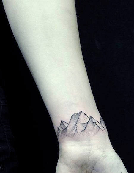 mountain male bracelet tattoo pictures