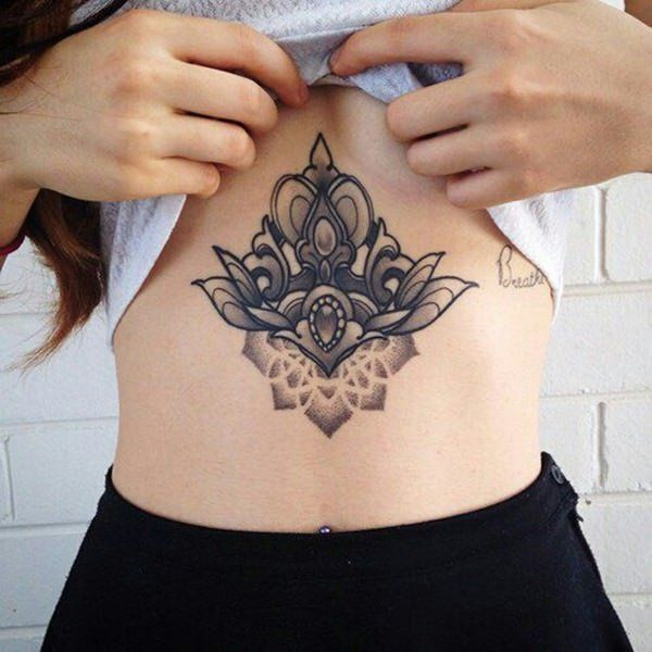 best stomach tattoos mandala design pictures