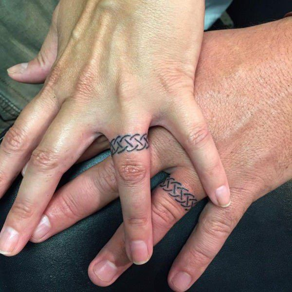 couple ring tattoo pictures ideas