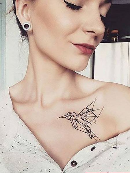 tattoos on upper chest females images