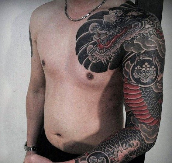 japanese dragon shoulder tattoo designs