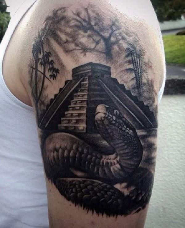 shoulder best snake tattoo artist