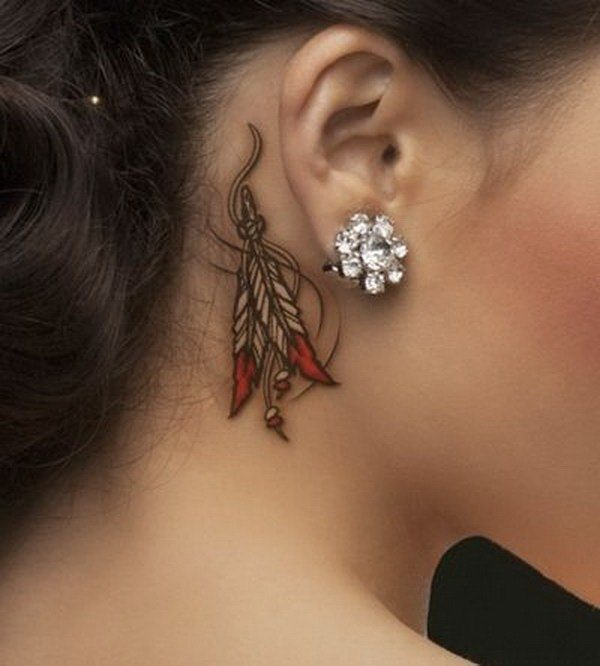 cool behind the ear tattoos for girls