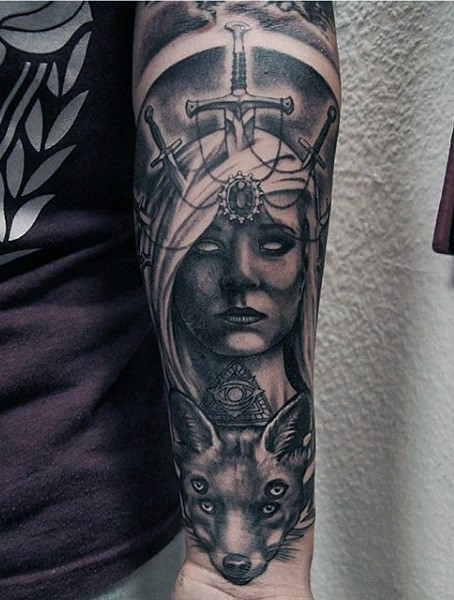 best sword tattoo on arm