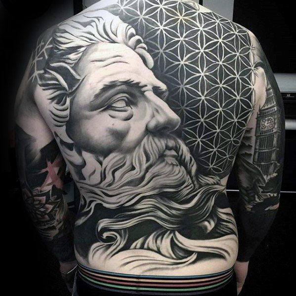 unique full back tattoos for guys