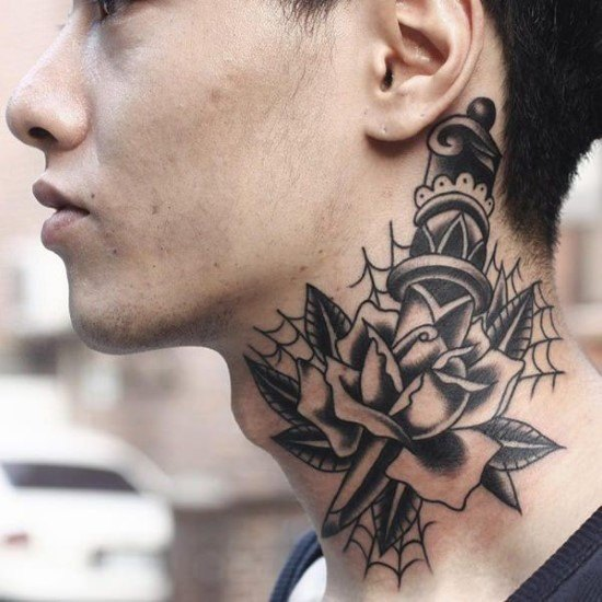 back of neck tattoo for man