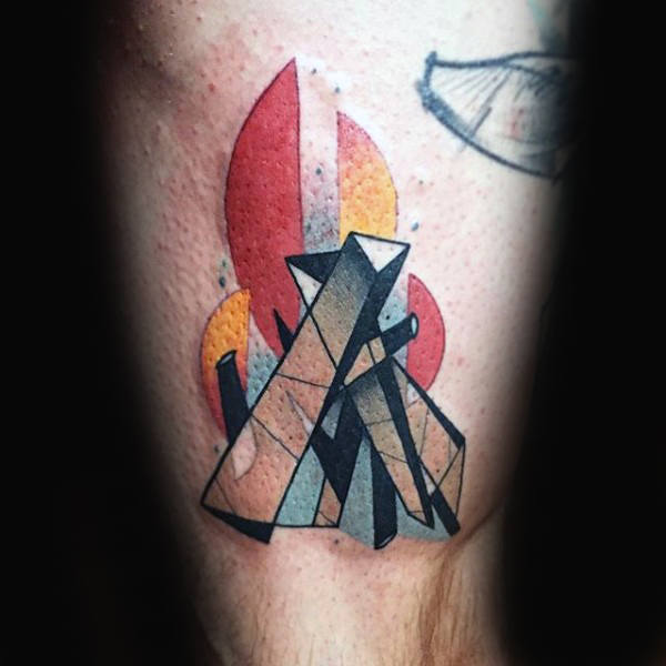Fire tattoos convey unassailable brilliance