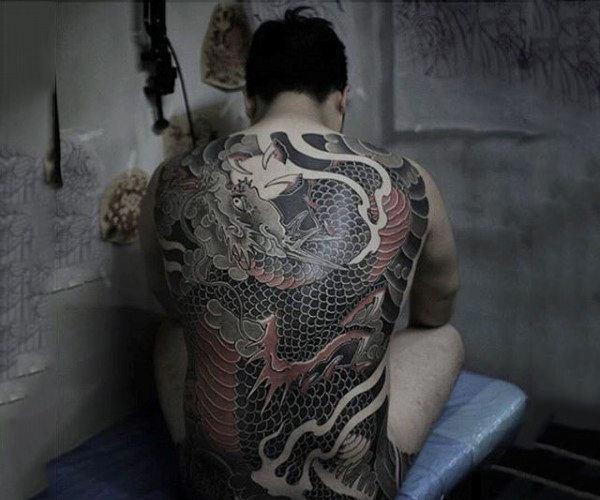 samurai dragon tattoo full back pieces for guys