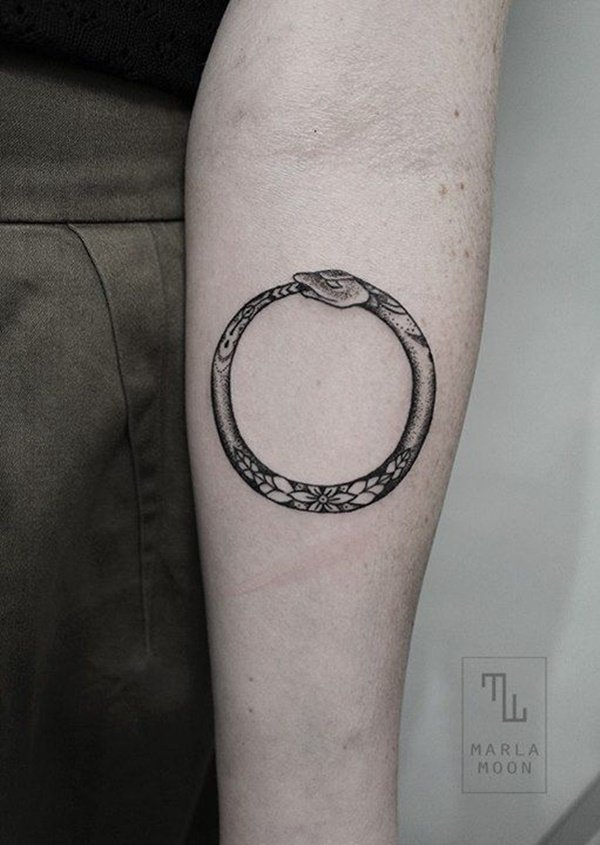 meaningful snake tattoos round design ideas images