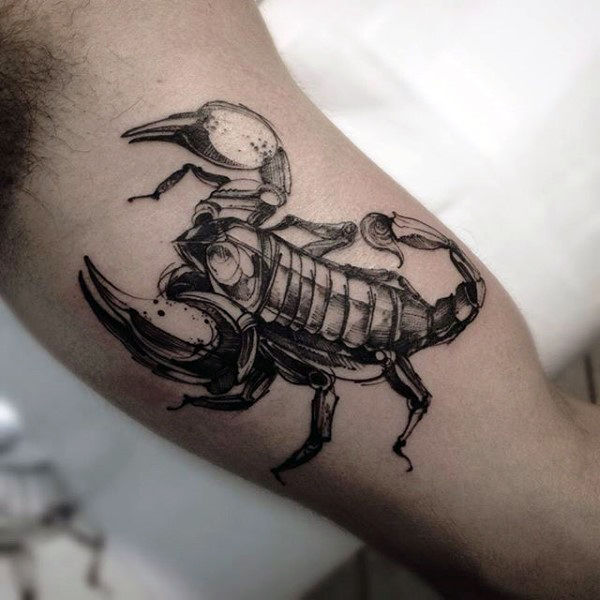 arm black scorpion tattoo meaning