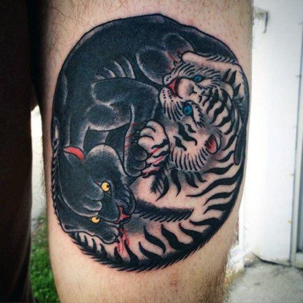 yin yang traditional tattoo