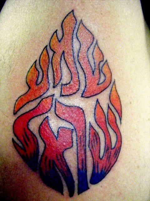 fire element symbol tattoo