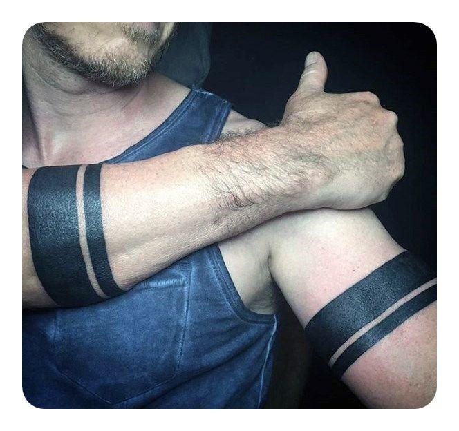 tribal forearm band tattoo designs