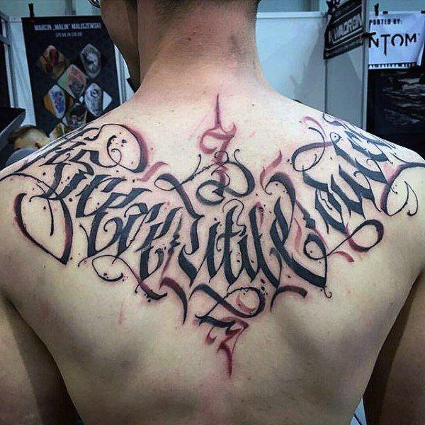 men best tattoo back designs