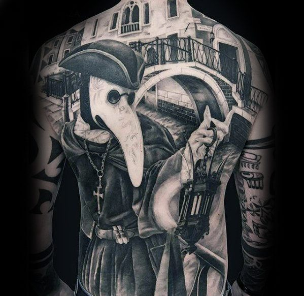 good full back tattoos for guys