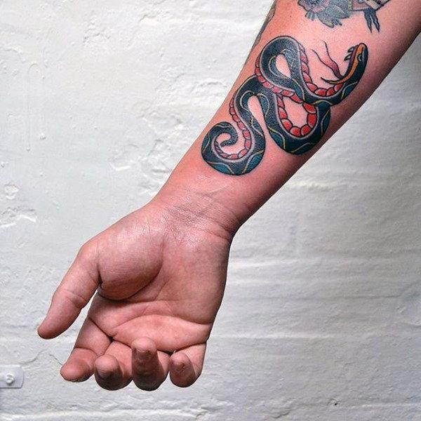 figure 8 snake tattoo