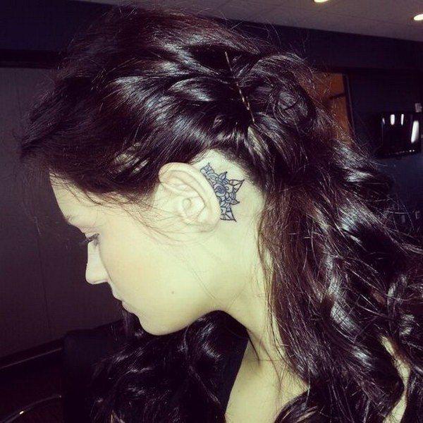mandala cute ear tattoo designs