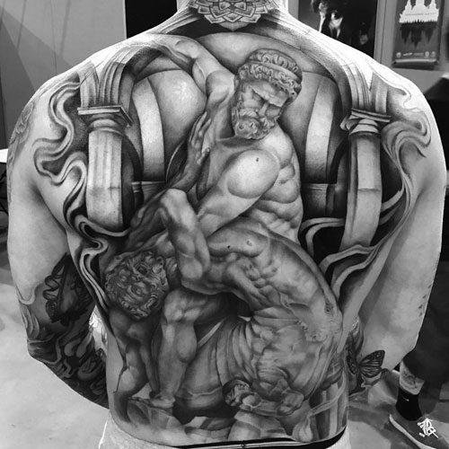 full awesome back tattoos for guys
