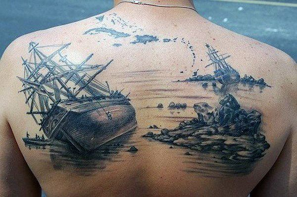 top of back tattoos