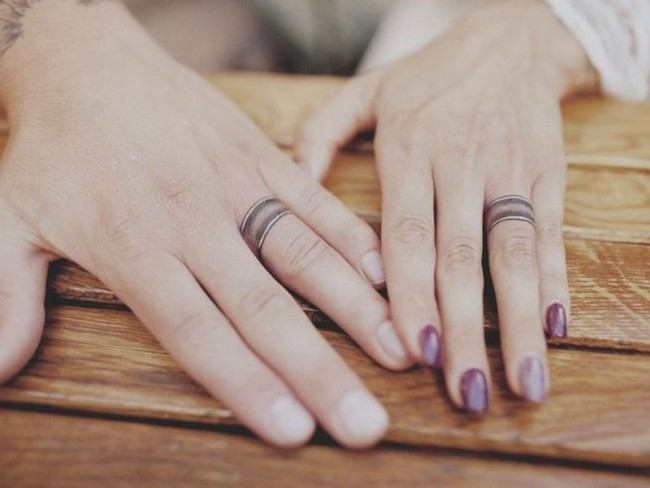 finger tattoos wedding band