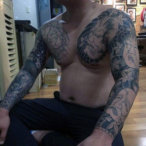 japanese yakuza body art