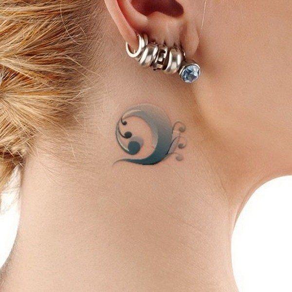 cute little tattoos design behind ear