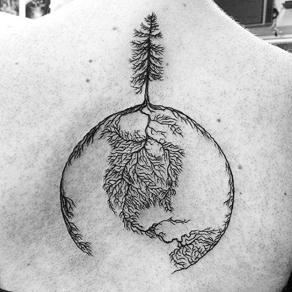back and shoulder tattoos for guys design ideas