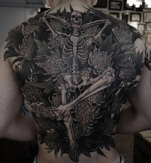 skillet full back tattoos