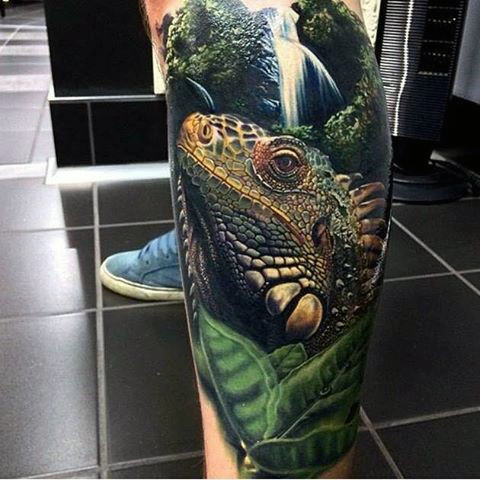 World's Best Lizard Tattoos Stock Pictures