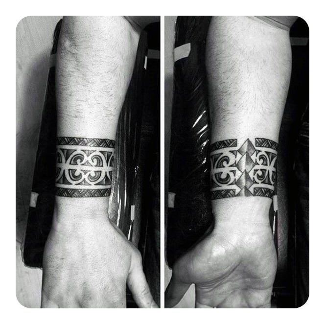 tribal line band tattoo designs
